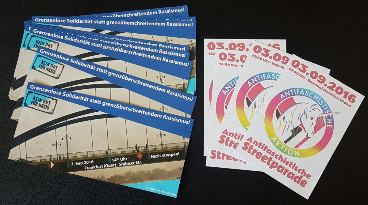 PM: Vielfältiger Protest am 03.09. in Frankfurt (Oder)