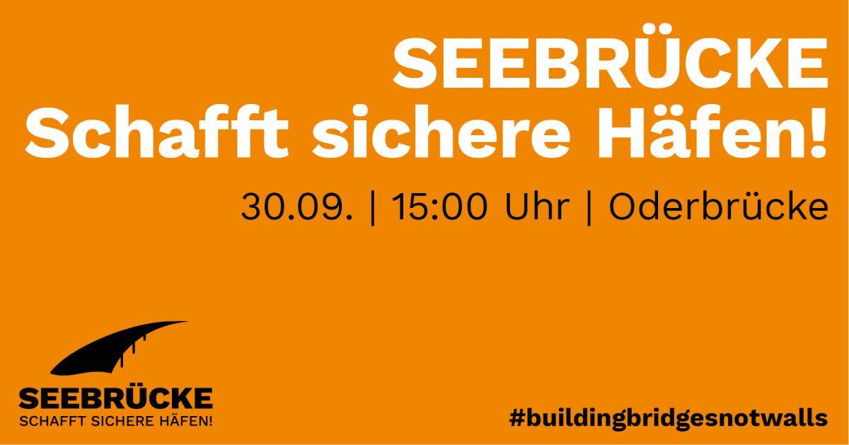 "PM: Kundegbung ""Wir sind Seebrücke"" in Frankfurt (Oder)"