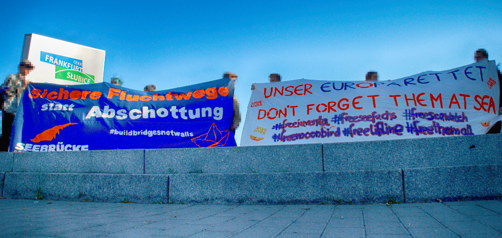 "Erfolgreiche Kundgebung der Kampagne ""Seebrücke"" in Frankfurt (Oder)"