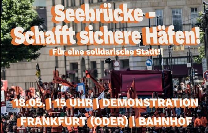 18.05.19: Demonstration für Seenotrettung in Frankfurt (Oder)